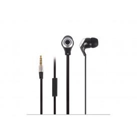 Auriculares de oido con microfono smartphone NEGRO