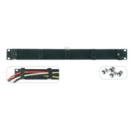 Panel Rack 19in Pasacables Frontal 1U
