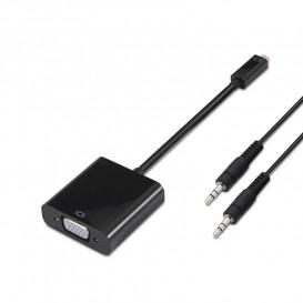 Conversor MicroHDMI a VGA y audio conector