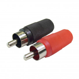 Conector RCA Macho Especial NEGRO