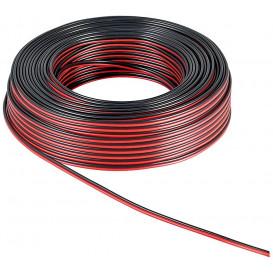 Bobina 25m Cable Paralelo 2x0,75mm ROJO/NEGRO