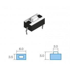 Pulsador Tacto 2pin Cto. Impreso medidas 3,5x6mm boton 5mm