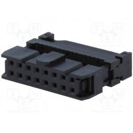 Conector Cable Plano Hembra Doble Fila 16Pin paso 1,27mm