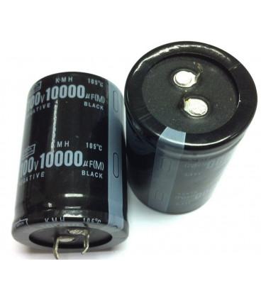 Condensador Electrolitico 10000uF 100Vdc medidas 65x35mm 2pin
