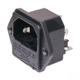 Conector Alimentacion BASE IEC320 C14 + portafusible 4873