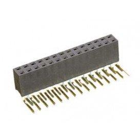 10.831 Regleta Doble 80 Pins 90º H