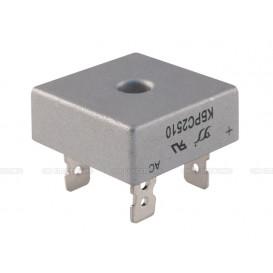 Puente Rectificador 1000V 25A FASTON medidas 28x28mm KBPC2510F