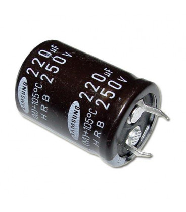 Condensador Electrolitico 220uF 250V 105º 25x35mm