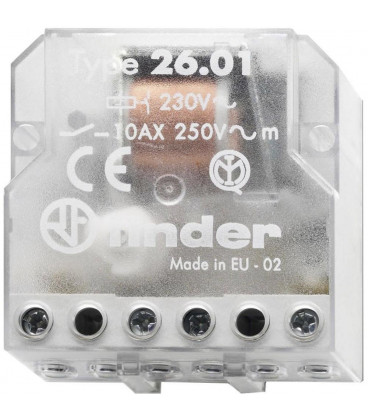 Telerruptor FINDER 230Vac 1Cto 10A 26018230