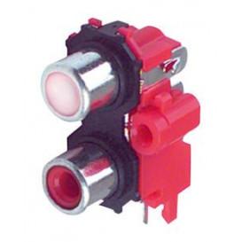 Conector RCA Base 2RCA Hembra para Circuito Impreso