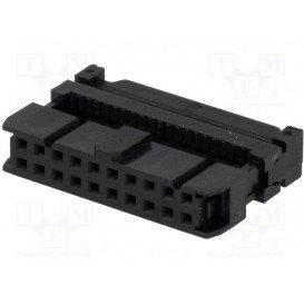 Conector Cable Plano Hembra Doble Fila 20Pin 1,27