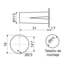 Interruptor Magnetico Empotrable Cerrado Reposo
