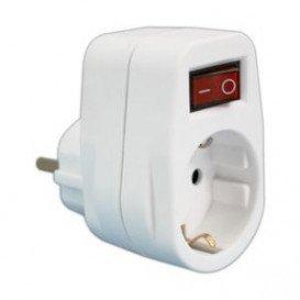 Adaptador 1 Toma Schuko+Interruptor 1Fase 16A/250V