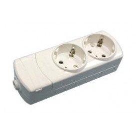 Regleta 2 Enchufes Schuko s/Interruptor s/cable