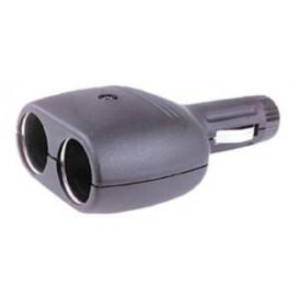 Conector mechero DOBLE c/fusible y led