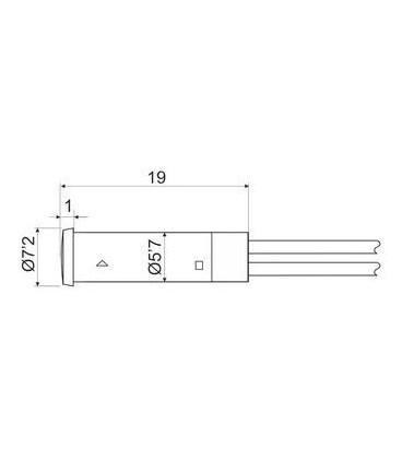 Piloto LED 7,2mm 230V ROJO