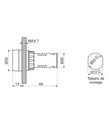 Señalizador zumbador 230V