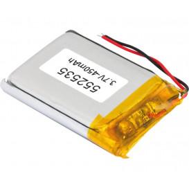 Bateria 3,7V 450mA Li-Polimero C/Cto.25X35X5,5mm