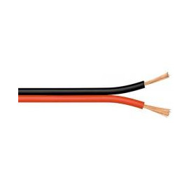 Bobina 100m Cable Paralelo 2x4mm ROJO/NEGRO CCA