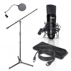 Microfono Vocal Condensador y Tripode PODCAST2