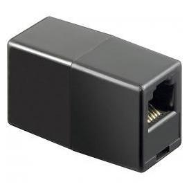 Adaptador Telefono 6P6C RJ12 Doble Hembra NEGRO