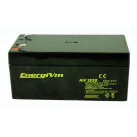 Bateria PLOMO 12V 3,3Ah AGM medidas 134x67x67mm ENERGIVM