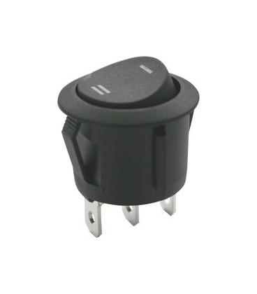 Conmutador Basculante Unipolar 6A/250V ON-ON color Negro