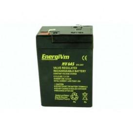 Bateria PLOMO 6V 4,5Ah AGM 70x47x100mm ENERGIVM