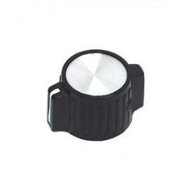 Boton de Mando c/indicador Eje 6mm Negro 25x14mm