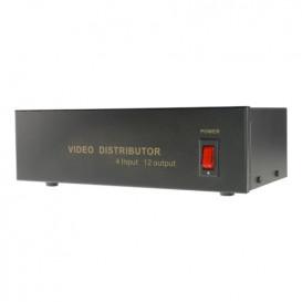 Distribuidor Splitter Video BNC 12 Salidas 4 IN