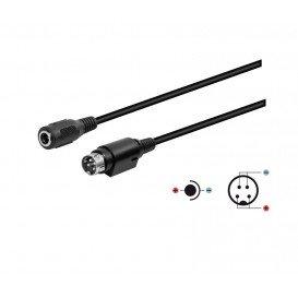Cable MiniDin 4Pin Macho a Conector 5,5x2,1mm