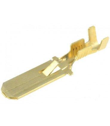 Faston Macho 6,3mm con retencion cable 0,75-2mm