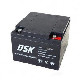 Bateria PLOMO 12Vdc 26Ah AGM 175x166x125mm DSK