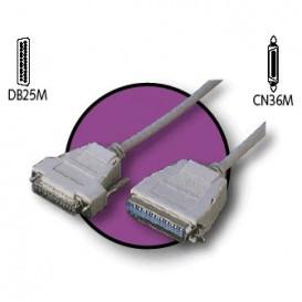 Cable Impresora CN36M a D-Sub25 Macho 3m