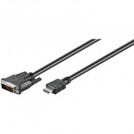 Cable DVI 18+1 Macho a HDMI 3mts