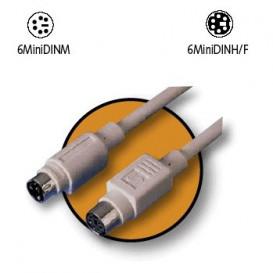 Cable PS/2 MiniDin6 Macho-Hembra 20m AK-3246