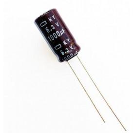 Condensador Electrolitico 1000uF 6,3V 105º 8X12mm