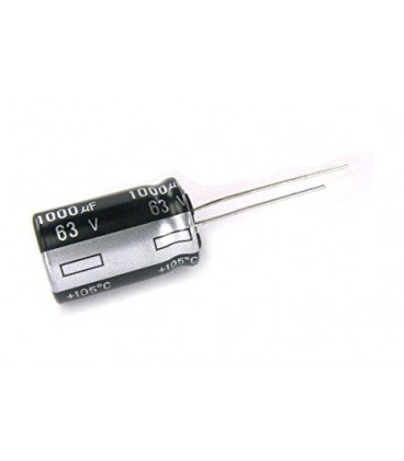 Condensador Electrolitico 1000uF 63V 105ºC Medidas 16x25mm