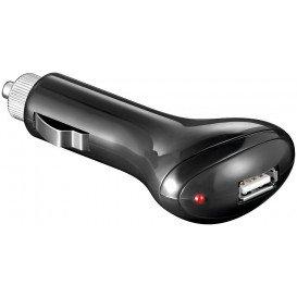 Cargador USB MECHERO a 5Vdc 1Amp NEGRO