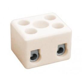 Regleta Ceramica 2 Polos 16A/400Vac 10.735/2