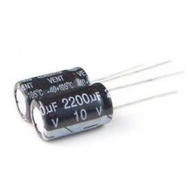 Condensador Electrolitico 2200uF 10V 105ºC Medidas 10x17mm