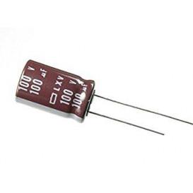 Condensador Electrolitico 100uF 100Vdc 105ºC medidas 10x20mm