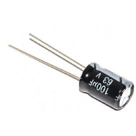 Condensador Electrolitico 100uF 63V 105ºC medidas 8x12mm