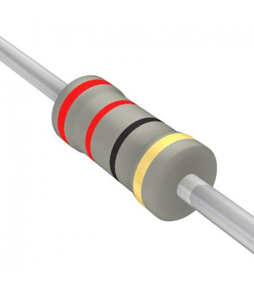 22R 1W Resistencia Oxido Metal 22 Ohm 1W 5% medidas 3,2x9mm
