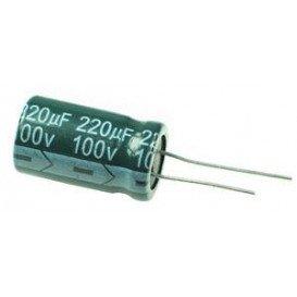 Condensador Electrolitico 220uF 100V 105º 15x25mm