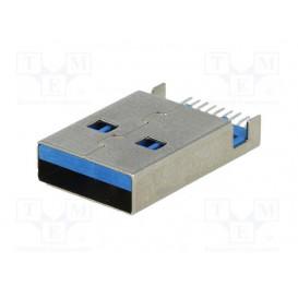 Conector USB A para circuito Impreso Horizontal