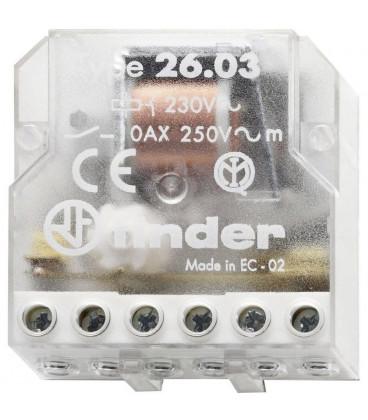 Telerruptor FINDER 230Vac 10A Biestable 26038230
