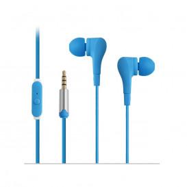Auricular con Microfono Miniatura AZUL