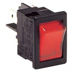 Interruptor Basculante Bipolar Luminoso Rojo 10A/250Vac