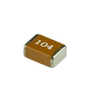 Condensador Poliester 100nF 50Vdc en SMD